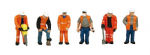 Bachmann Scenecraft 36-049 OO Scale Trackside workers (6)